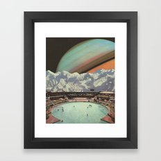 Saturn Spa Framed Art Print