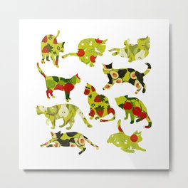 Kitchen Cats Metal Print