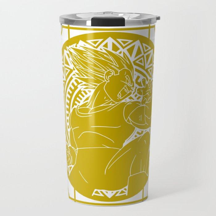 Stained Glass - Dragonball - Vegeta SSJ Travel Mug