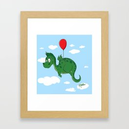 Learning to fly Framed Art Print
