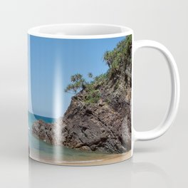 Tropical beach with rock Coffee Mug