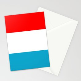 luxembourg country flag Stationery Cards