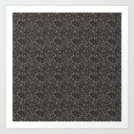 Gray Hematite Close-Up Crystal Art Print