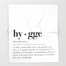 Hygge Definition Throw Blanket
