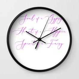 Soul Of a Gypsy Wall Clock