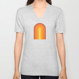 Gradient Arch - Vintage Orange Unisex V-Neck