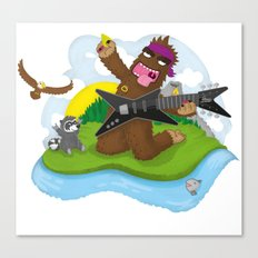 Bigfoot Rocks! Canvas Print