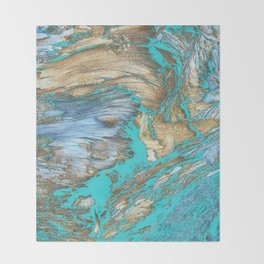 Woody Water Throw Blanket