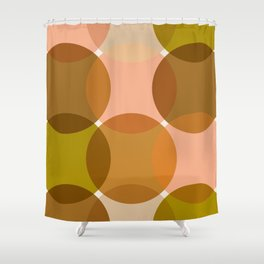 Minimalistic Pattern Boho Chic Mustard Earth tones - 1970s Shower Curtain