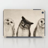 owls iPad Cases featuring The Owl's 3 by Isaiah K. Stephens
