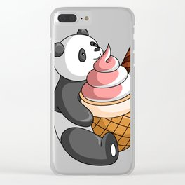 Hey Bear Panda Mix Flavor Ice Cream Clear iPhone Case