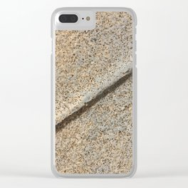 Concrete Style Clear iPhone Case