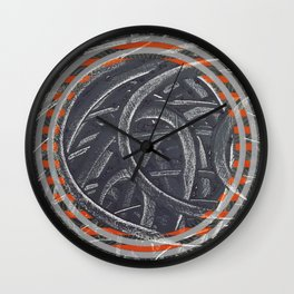 Junction - orange circle Wall Clock