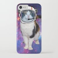 space cat iPhone & iPod Cases featuring Space cat by S.Levis