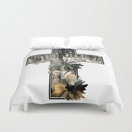Fluid Art Cross Duvet Cover