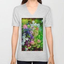 Floral Fantasy 8 Unisex V-Neck