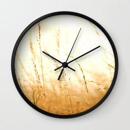 Fields of Bronze Wall Clock