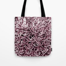 Pink Worms Tote Bag