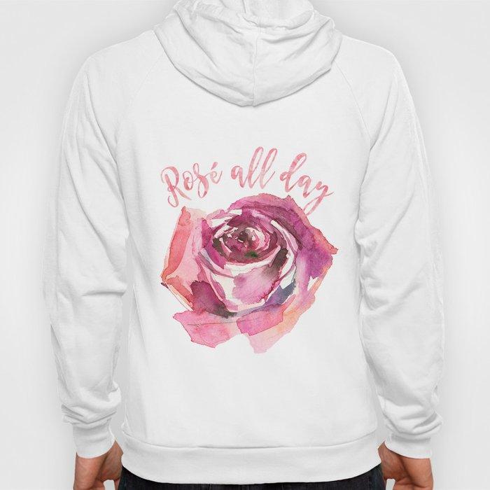 Rosé all day | Watercolor rose Hoody