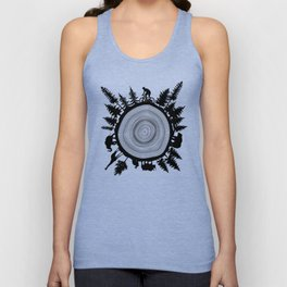 Into The Woods - Tree Ring Unisex Tank Top