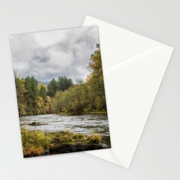 Fall on the McKenzie River Stationery Cards