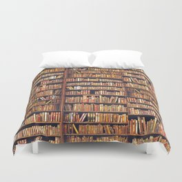 Read to live, live to read. Duvet Cover