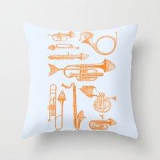 Fish Trumpet Throw Pillow