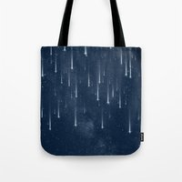 stars Tote Bags featuring Wishing Stars by Paula Belle Flores