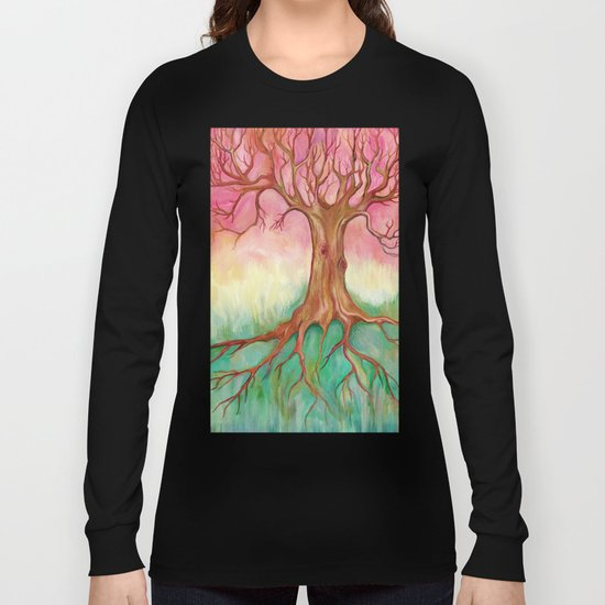 Above and Below - tree painting Long Sleeve T-shirt