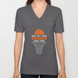 Basketball May All Your Swishes Come True College Player Unisex V-Neck