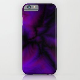 Crossing sapphire lightning bolts of light from flowing galaxies to parallel ones with dark glitteri iPhone Case