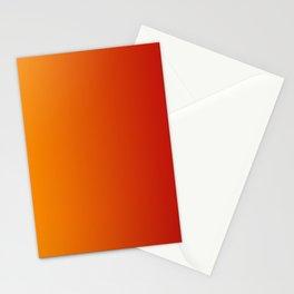 Red Orange Gradient Stationery Cards