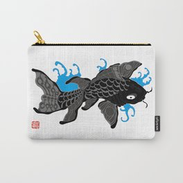 Rising Carp-001 Black Carry-All Pouch