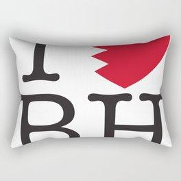I Love Bahrain Rectangular Pillow