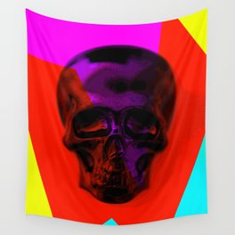 Skull on colours Wall Tapestry