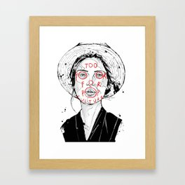 Too Poor For Pop Culture II Framed Art Print