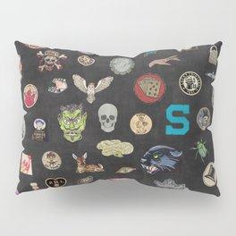 Vintage patches NOIR Pillow Sham