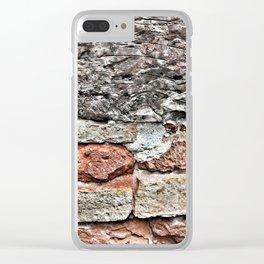Tuscan Bricks Clear iPhone Case