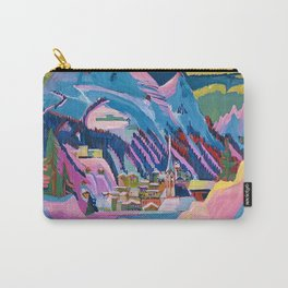 Davos, Swiss Alps in Winter Mountain Landscape by Ernst Ludwig Kirchner Carry-All Pouch