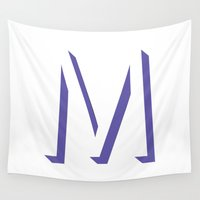 mandie manzano Wall Tapestries featuring m is for melonie by CHIN CHIN Design