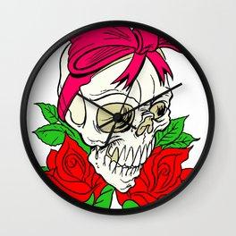 Halloween Skull Tattoo Wall Clock