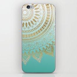 Pretty hand drawn tribal mandala elegant design iPhone Skin