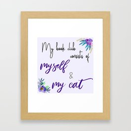 My Book Club Framed Art Print