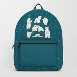 Cute Polar Bear Cubs Backpack