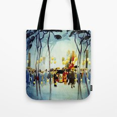 Japanese Covered Litter and Lanterns Tote Bag