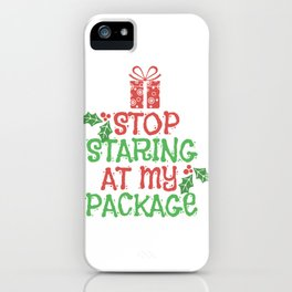 Christmas Gifts Packages Kids Funny Shirt iPhone Case