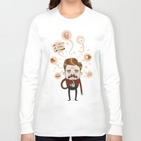 ron swanson Long Sleeve T-shirts featuring Ron Swanson by Cody Bond