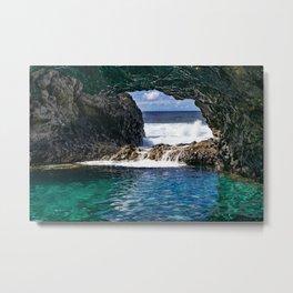 Charco azul, volcanic natural pool Metal Print