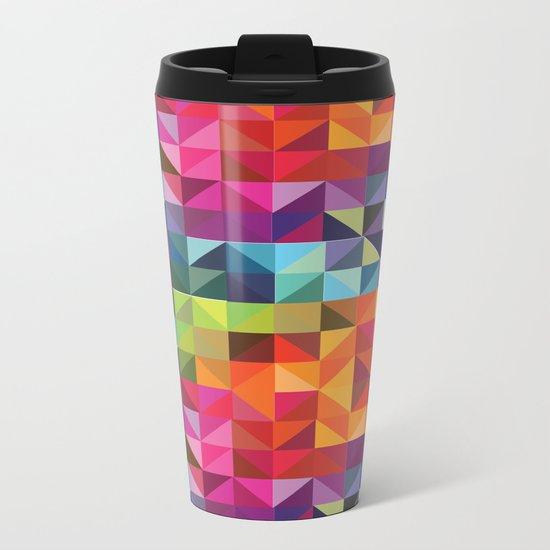 Geometric World No. 2 Metal Travel Mug