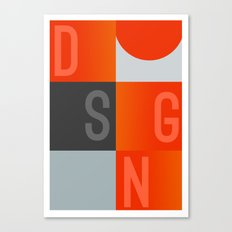 DSGN Canvas Print